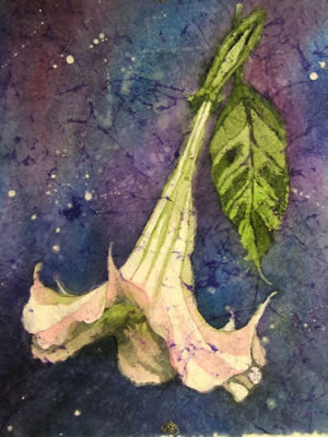 Gallery: Batik Angel Trumpet - 22 x 30