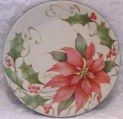 Shaded Wash Poinsettia Plate Tutorial