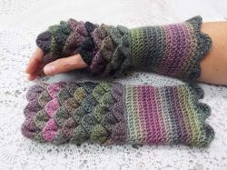 Soft Purples Dragon Scale Gloves