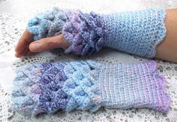 Vareigated Blue Dragon Scale Gloves