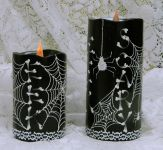 Halloween MUD Candles Tutorial