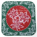 MUD Poinsettias and Holly Printed Packet