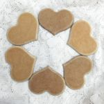 Heart Shaped MDF Cookies 4 1/2 inch set of 6