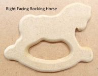 Right Facing Rocking Horse Cookie