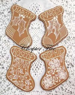 MUD Gingerbread Cookies Chapter Five Stockings